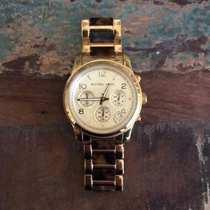 """Michael Kors Link Watch - Tortoise and Gold, 8.5"""""""